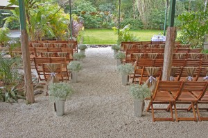 Amore Gardens Ceremony with timber chairs