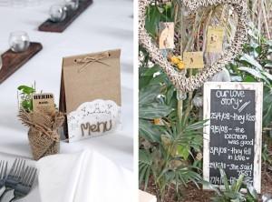 menu and love story blackboard