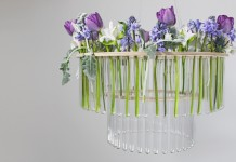 Test Tube Chandelier - Wedding Hire