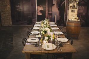Gusto Da Gianni Wedding Table Setting