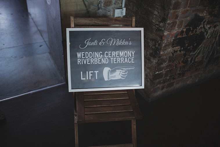 Brisbane Powerhouse Wedding Sign