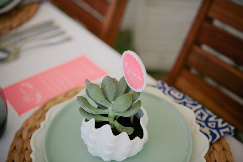 Succulent Wedding Place Setting Favour by Lovestruck