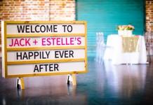 Marquee Sign Brisbane Wedding