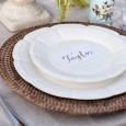 Lovestruck French Scalloped Plates