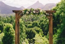 Lovestruck Wedding Ceremony Wooden Arbour