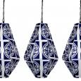 Lovestruck Wedding Hire Gold Coast - Blue Geometric Lanterns