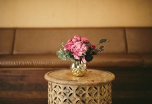 Wooden Side Table Hire by Lovestruck Weddings