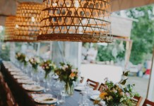 Basket Pendant Lights - Lovestruck Weddings