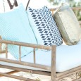 Navy, turquoise and gold cushions - Lovestruck Weddings