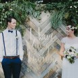 Wedding Ceremony Parquetry Backdrop - Lovestruck Weddings