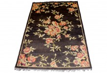Lovestruck Rug Hire - Black Floral Rug