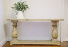 Ceremony Wooden Console Table Hire - Lovestruck Weddings