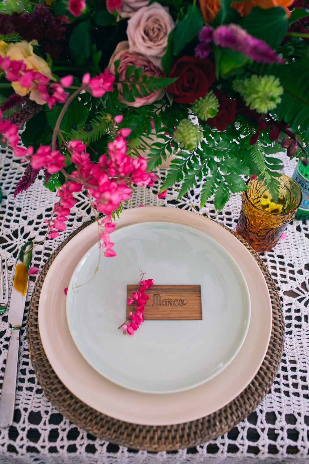 Lovestruck Weddings - Twine Magazine - Rattan Charger Plate Hire