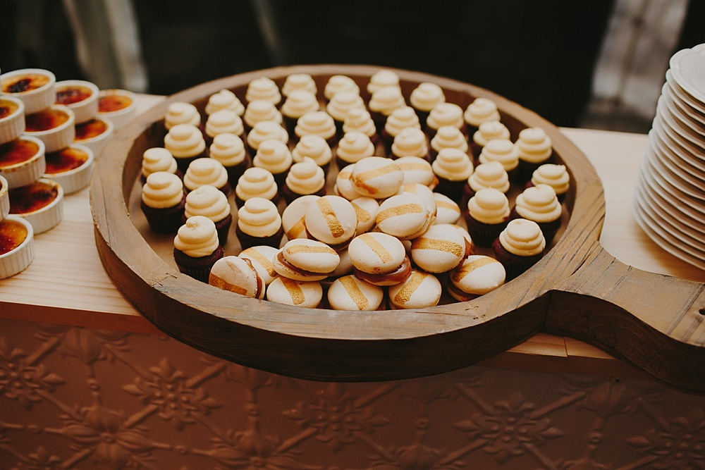 Lovestruck Weddings - Mike & Zoe - Salted Caramel Macarons and Mini Cupcakes