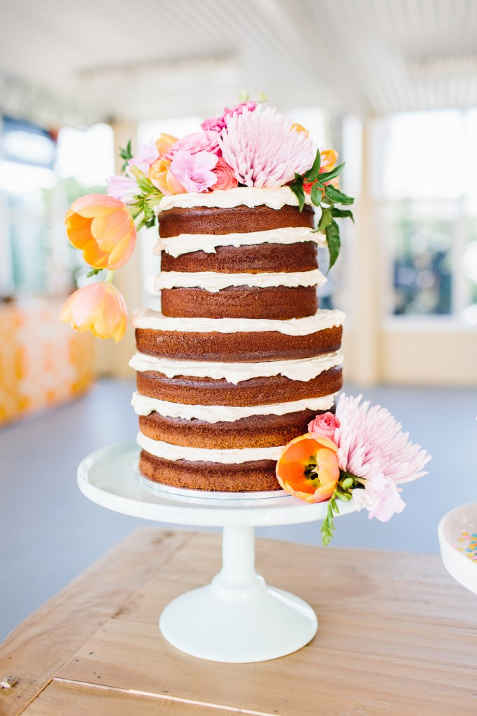 Lovestruck Weddings + Dot and Roy Naked Cake