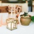 Copper Geo Votive Hire - Lovestruck Weddings