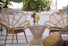 Rattan Side Table - Gold Coast Corporate Event Hire by Lovestruck Weddings