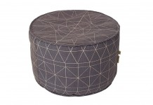 Charcoal Compass Pouf - Lovestruck Weddings