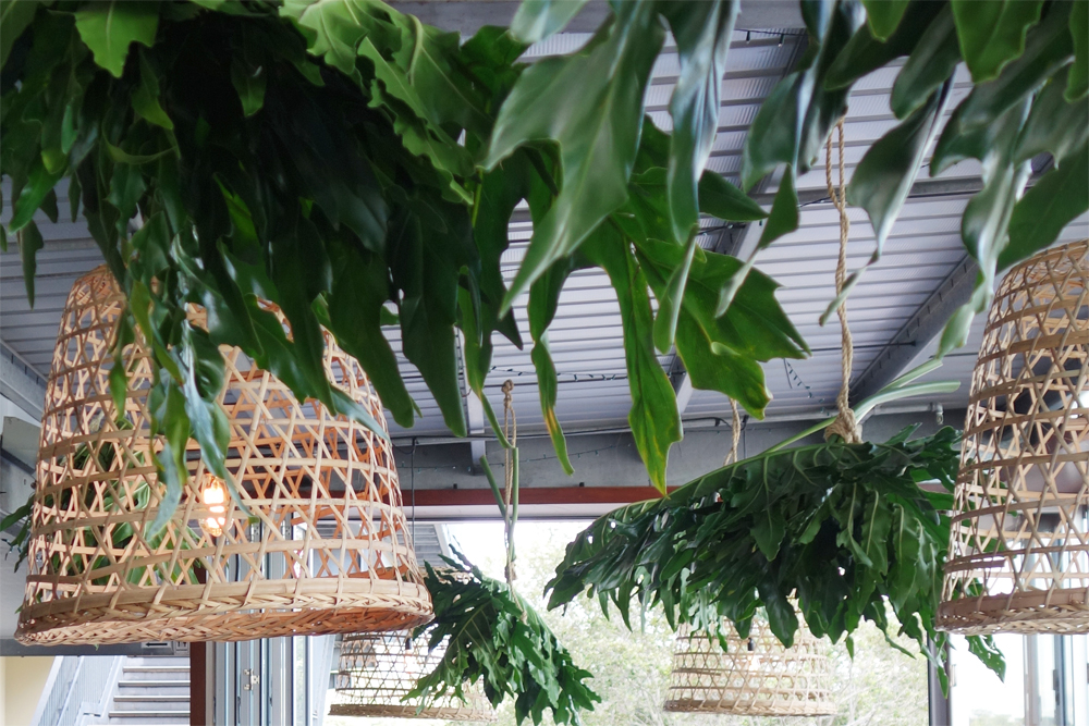 Pendant light and foliage canopy by Lovestruck Weddings