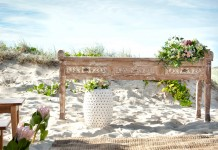Whitewash Console Table Hire - Lovestruck Weddings