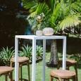 White Bar Table Hire - Lovestruck Weddings