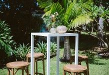 White Bar Table Hire - Lovestruck Weddings