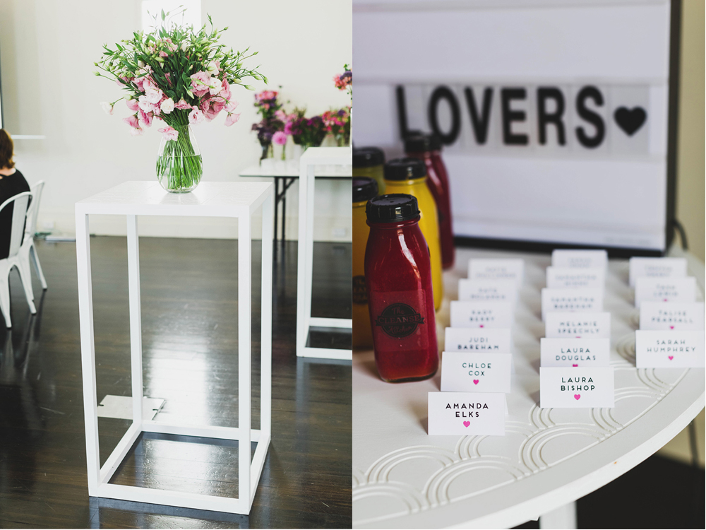 White Cocktail Furniture by Lovestruck Weddings.