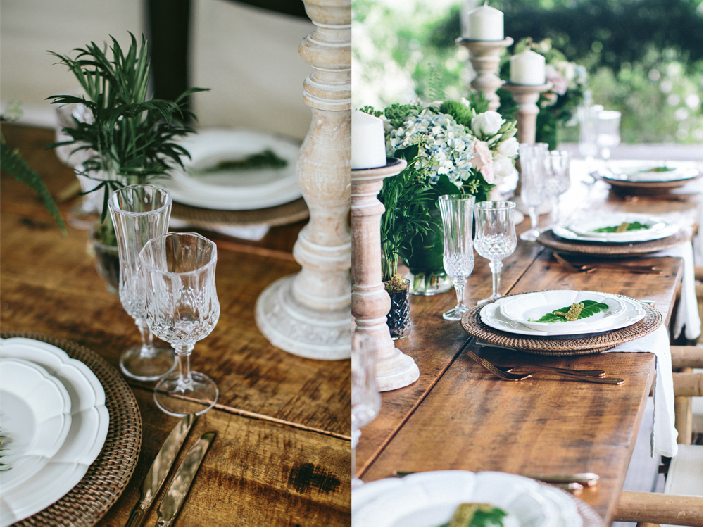 British Empire Shoot at Gurragawee.  Rattan Charger Plates by Lovestruck Weddings.