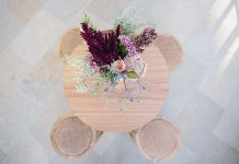 Wooden Dry Bar Table Hire - Lovestruck Weddings