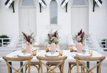 White Parquetry Table HIre - Lovestruck Weddings