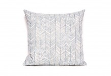 Blue Zig Zag Cushion Hire - Lovestruck Weddings