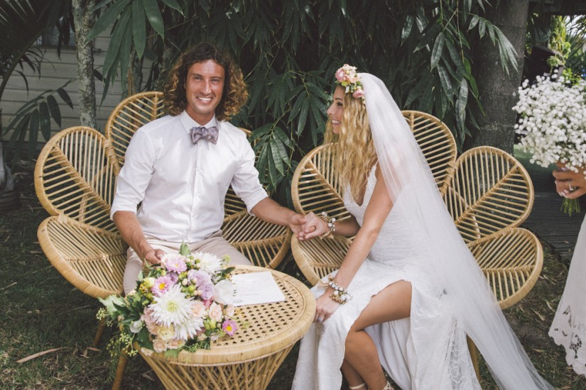 Megan and Ben - Secret Garden Wedding, Byron Bay.  Styled by Lovestruck Weddings.