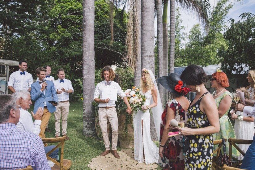 Megan and Ben - Secret Garden Wedding, Byron Bay