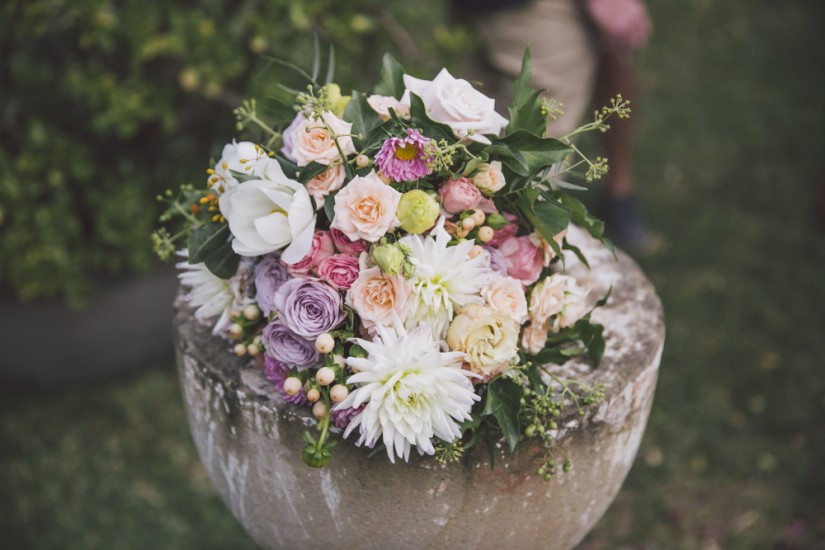 Megan and Ben - Secret Garden Wedding, Byron Bay.  Styled by Lovestruck Weddings.  Flowers by White Ivy Design.