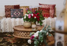 Carved Wooden Coffee Table Hire - Lovestruck Weddings