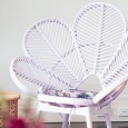 Lavender Rattan Chair by Lovestruck Weddings