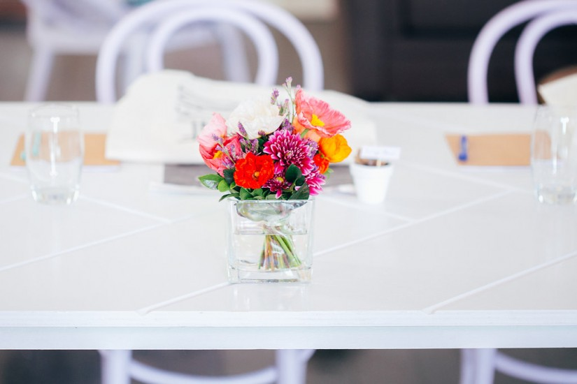 White Parquetry Tables by Lovestruck Weddings
