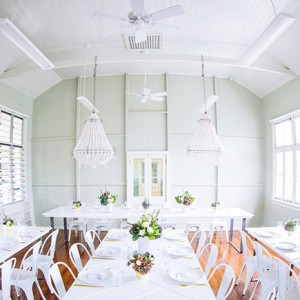 Kirra Hill Community Centre - Great Hall. Furniture Hire by Lovestruck Weddings.