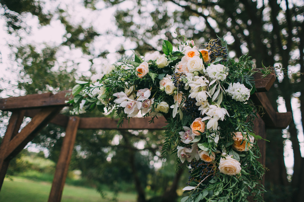 Floral arbour by Elyssium Blooms and Lovestruck Weddings