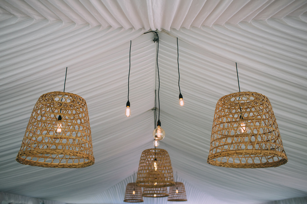 Basket Pendant Lighting by Lovestruck Weddings & Elyssium Lighting