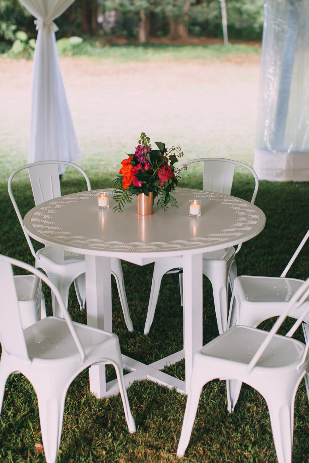 White Cocktail Furniture Hire by Lovestruck Weddings