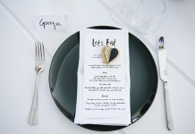 Black Dinner Plate Hire by Lovestruck Weddings