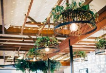 Black Pendant Shade Hire - Lovestruck Weddings