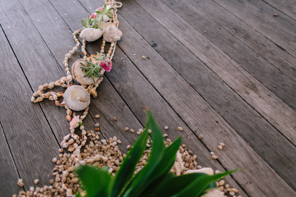 Byron Bay Ceremony. Styled by Lovestruck Weddings and The Borrowed Nursery
