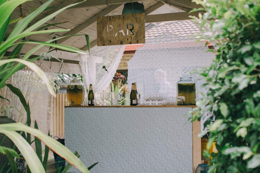 Lovestruck Weddings Bar Hire. Secret Garden Byron Bay.