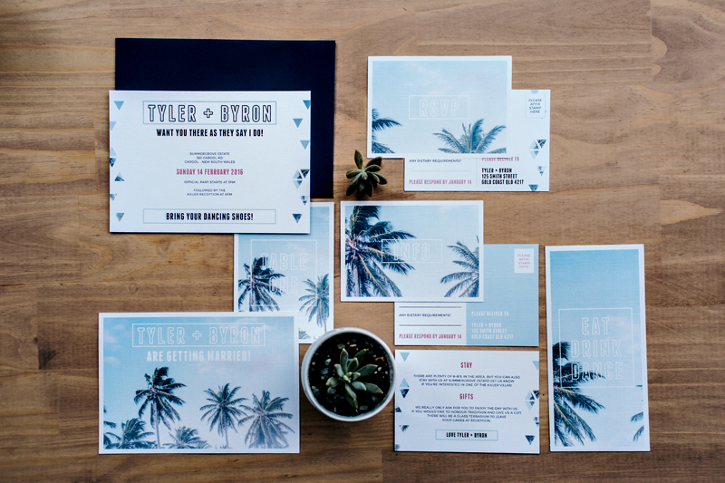 Above the Palms Shoot: Stationery by September Creative.