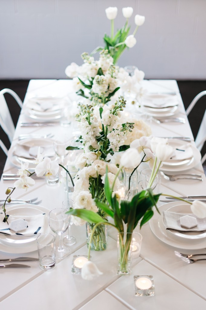 White Parquetry Table Hire by Lovestruck Weddings