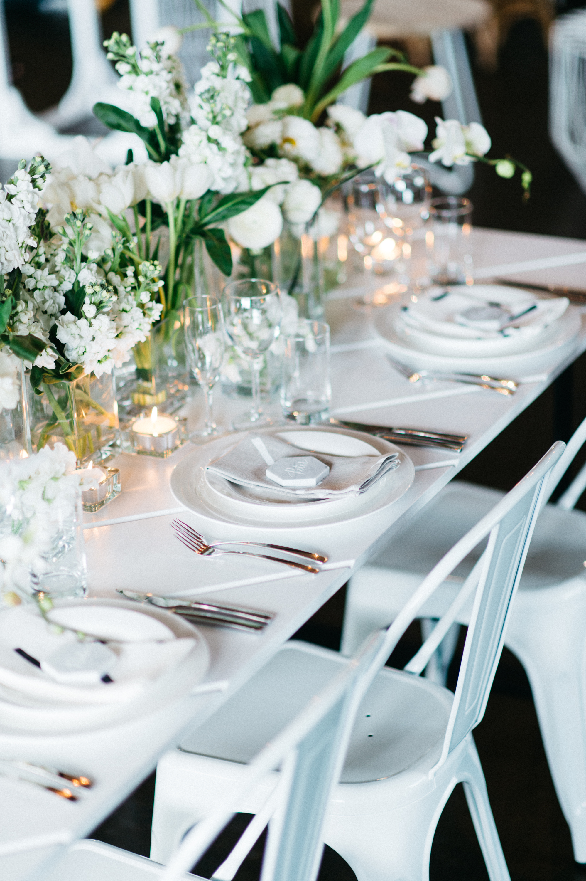Lovestruck weddings and events white parquetry table hire by lovestruck weddings junglespirit Choice Image