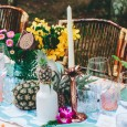 Palm Candlestick Holder Hire - Lovestruck Weddings