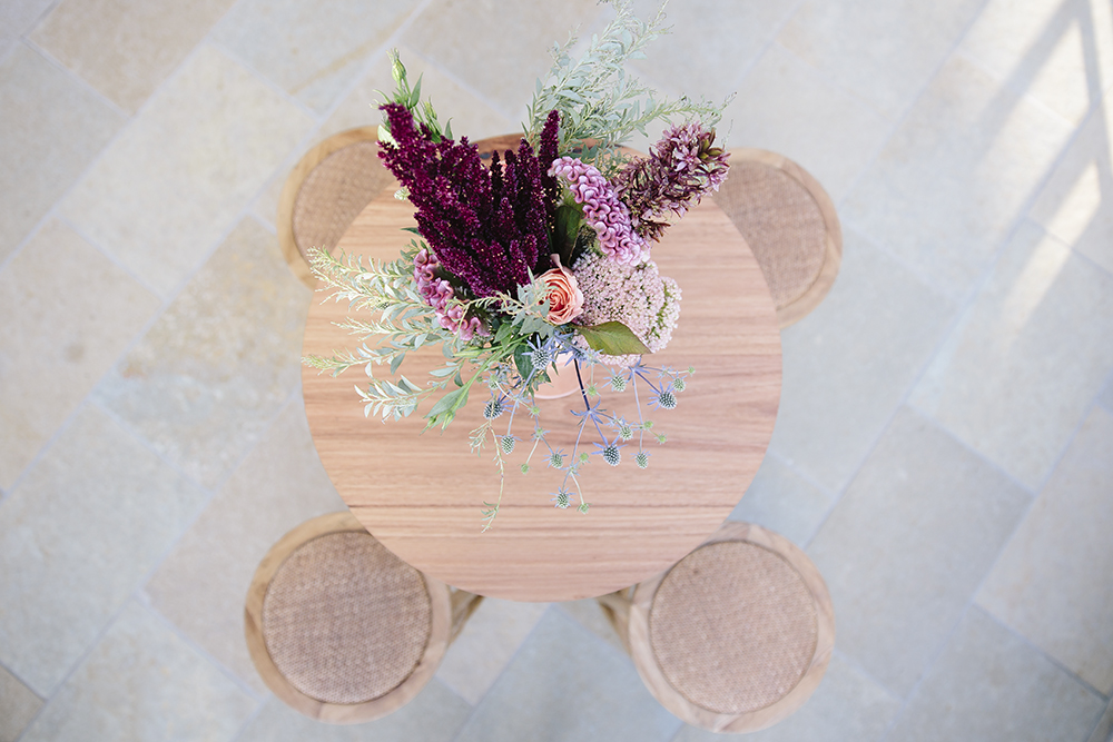 Wooden Dry Bar Table and Stool hire by Lovestruck Weddings